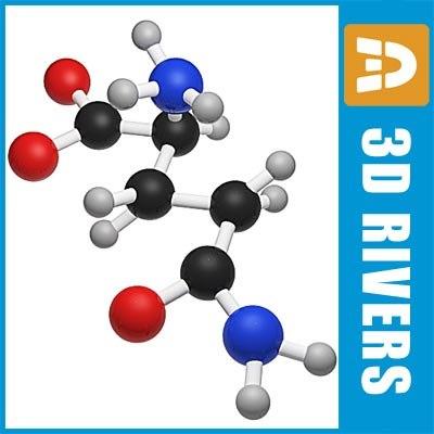 glutamine molecule structure max